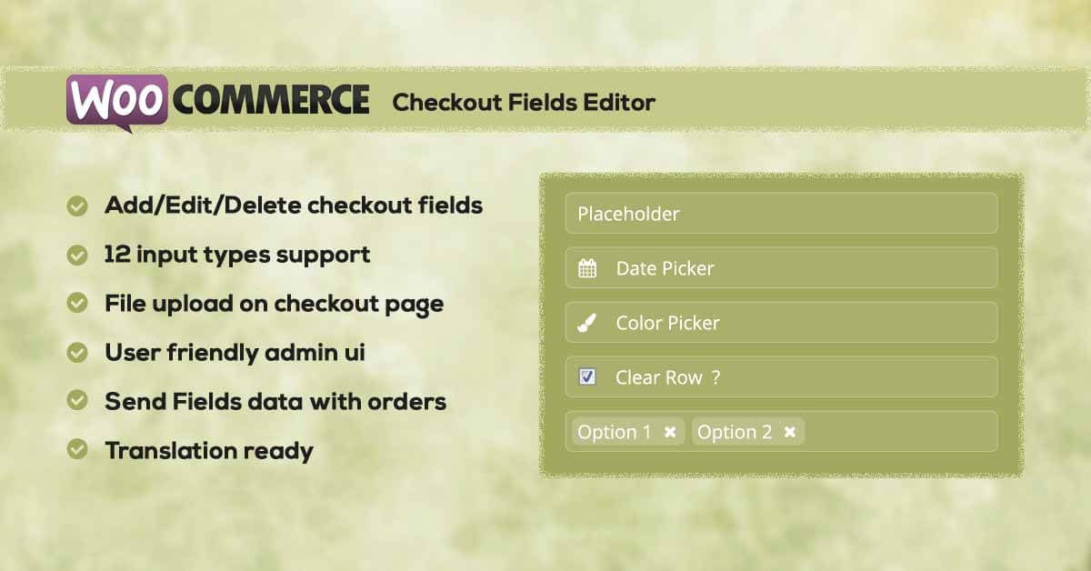 WC Checkout Fields Editor, our Premium WooCommerce Extension available now!!!!