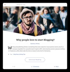 Elina blog template