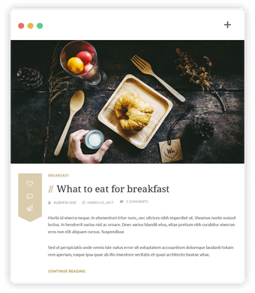 Tagly blog template