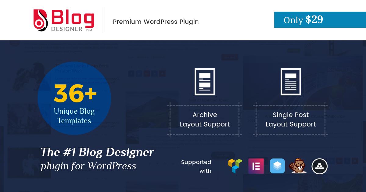 Limited Time Offer, Blog Designer Pro at $29 Only (Expired!)