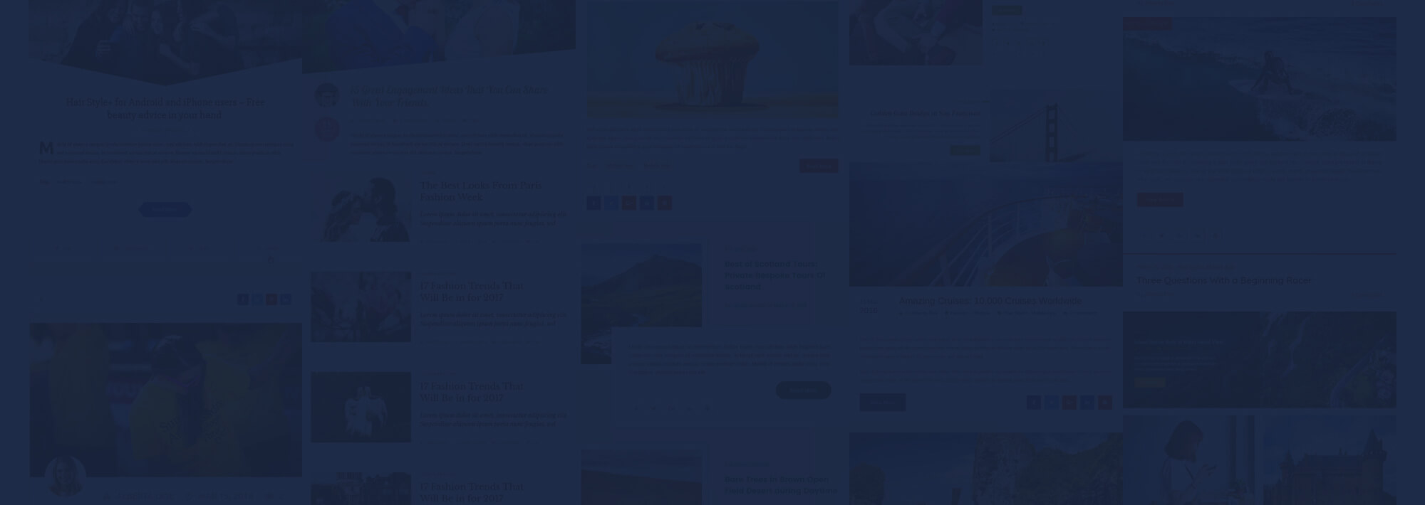 Blog designer template showcase
