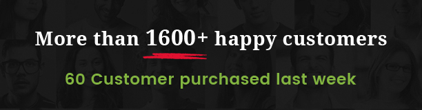 more than 1600+ happy customers