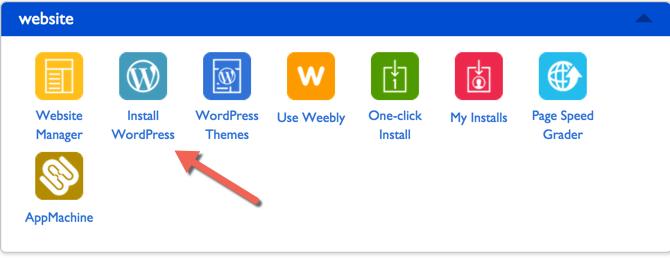 Single Click Install WordPress