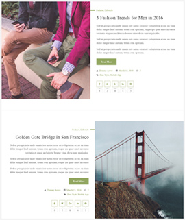 Deport Blog Template