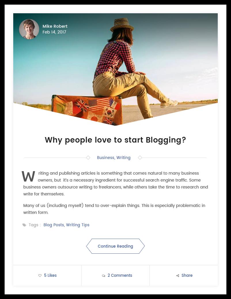 Full width Layout Blog Templates