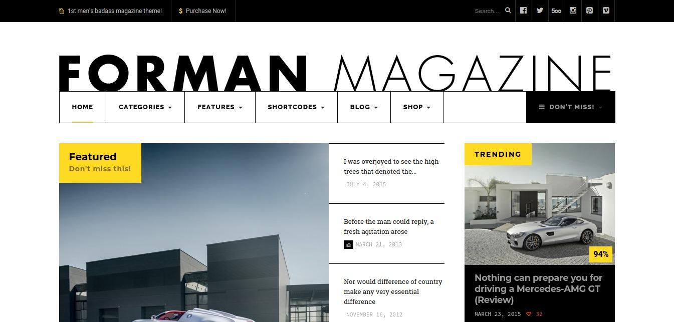 Forman Magazine Just another WordPress site