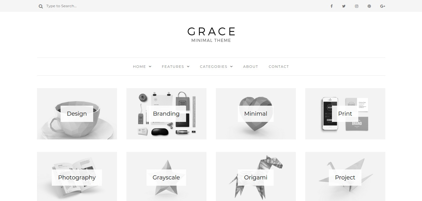 Grace - Minimal WordPress Blog Theme