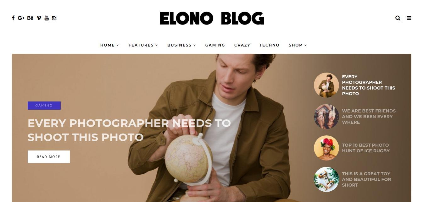 Elono - WordPress Blog Magazine Theme