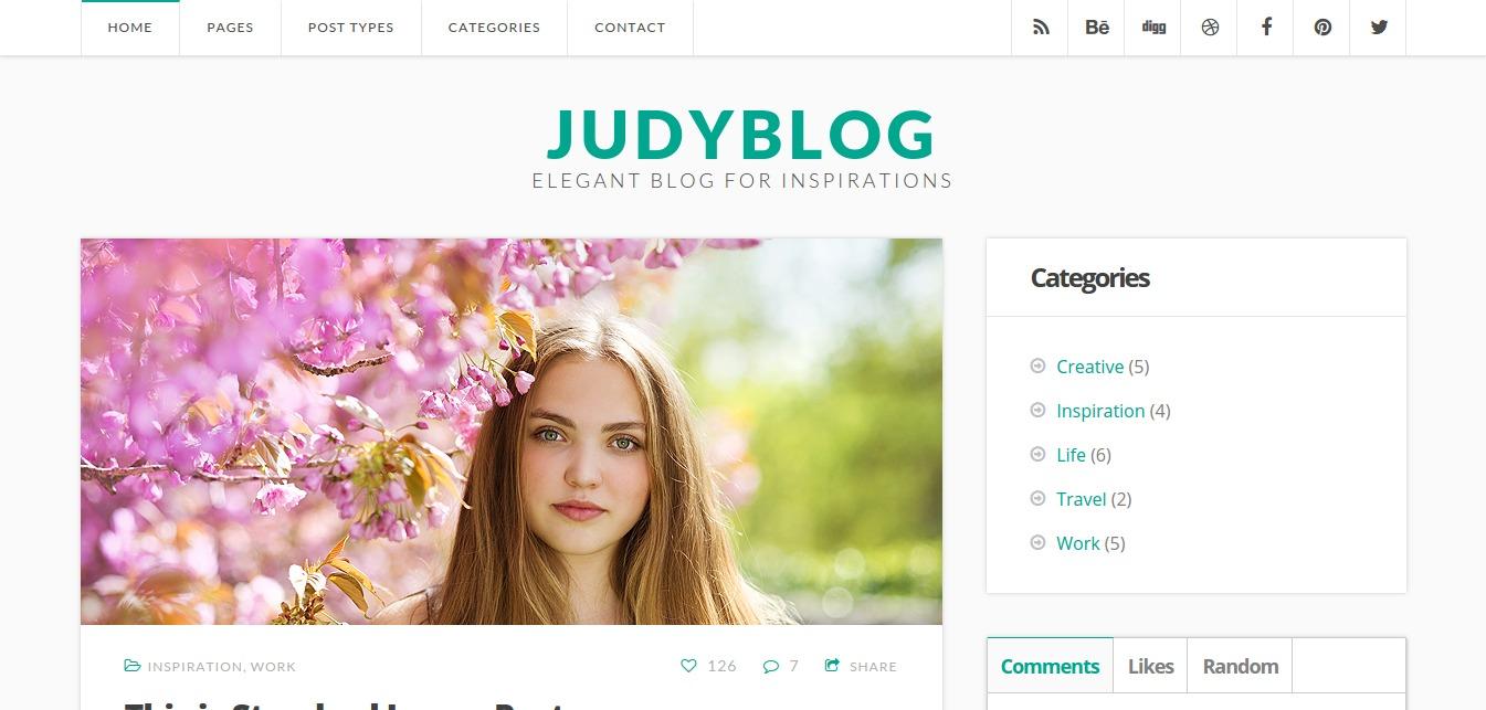 JudyBlog Elegant Blog for Inspirations