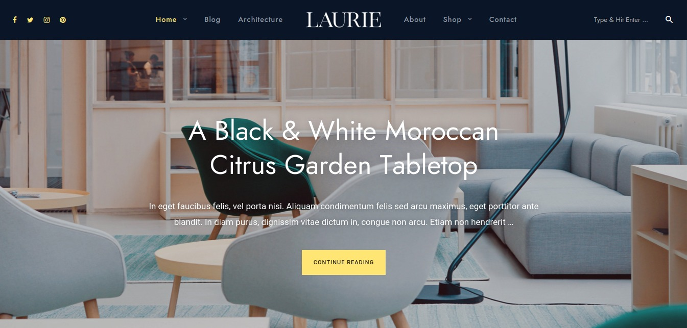 Laurie WordPress theme