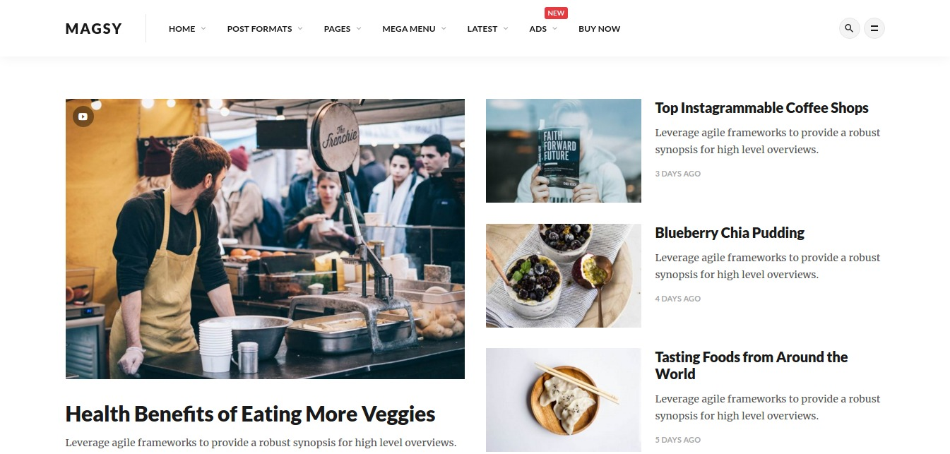 Magsy - Modular Magazine & Blog Theme