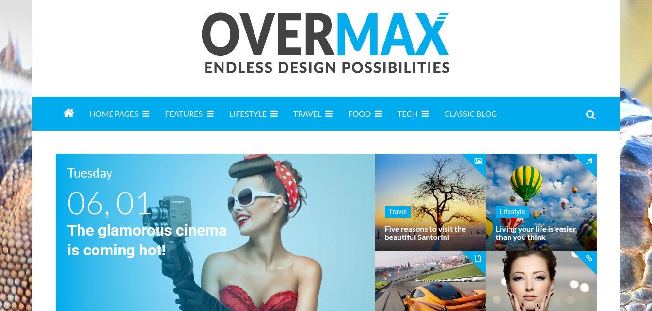 Overmax – WordPress Magazine Theme