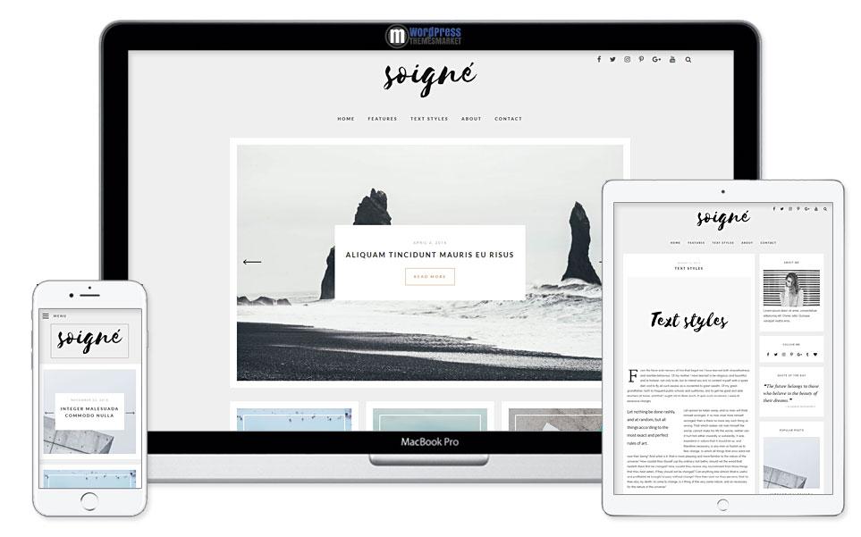 Soigne - A Responsive Minimal WordPress Blog Theme