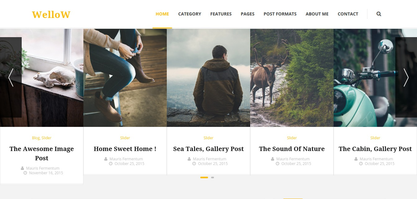 Wellow – Clean Personal Blogging Theme – Just another WordPress site