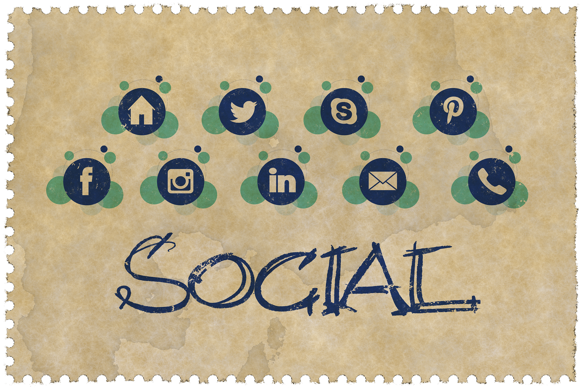 Social accounts with blogging